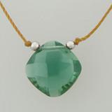 solo cushion - green quartz 4c
