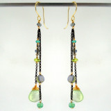 dancing queen - tango prehnite OX earrings