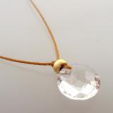 Clear Quartz Cutie Pie Necklace with 14kt gold fill accents