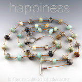 stepping stone - 10mm amazonite rondel 36 inches