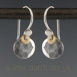 dab - flat facet earrings