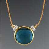 solo - rustica coin london blue quartz vermeil