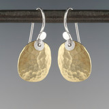 shape - paddle  - brass earrings