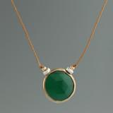 rustica coin green onyx vermeil