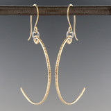 stix  - curvy  earrings GF chiseled