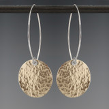 disquette 4 pebble GF - earrings