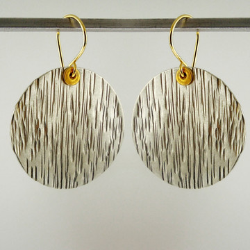 "disquette 4 woody - 1"" earrings"