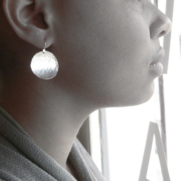 disquette 4 pebble - 1'' earrings