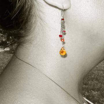 dancing queen - minuet citrine OX earrings