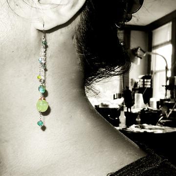 dancing queen - tango cognac quartz OX earrings