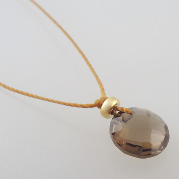 solo cutie pie - smoky quartz 8mm