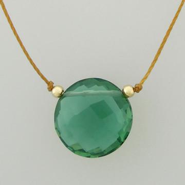 solo luxe coin - green quartz 12mm