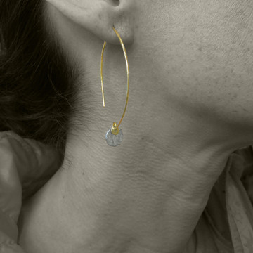 ARC dab SS - 1/4'' earrings
