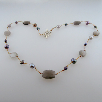 delicata - gray moonstone pearl mix 16-20""