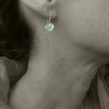 solo cutie pie - chrysoprase 8mm ER