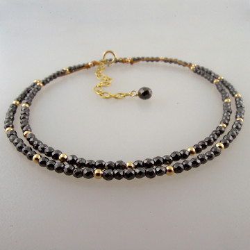 """shown as double wrap for detail - MAY be able to be worn as a bracelet -  14"""" option wrapped twice for a 7"""" or larger wrist (But we do have a bracelet option with a shorter extender)"""