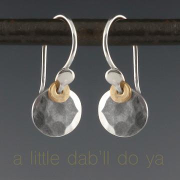dab - flat facet earrings