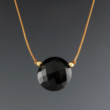 solo luxe coin - black tourmaline 3c