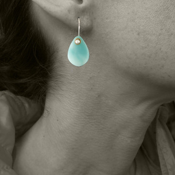 Amazonite Petal Earrings