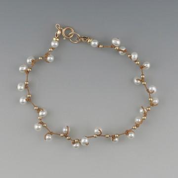 celestial plus - pearl cream 4mm bracelet