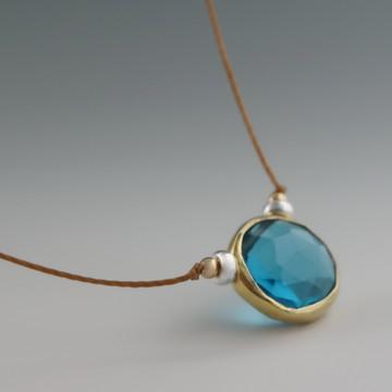 rustica coin london blue  quartz vermeil