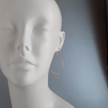 stix  - curvy  earrings GF chiseled