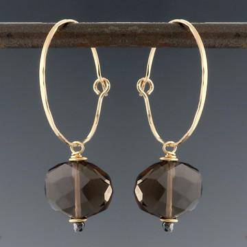 Mingle Mini Slice Hoop Earrings - multiple gem options