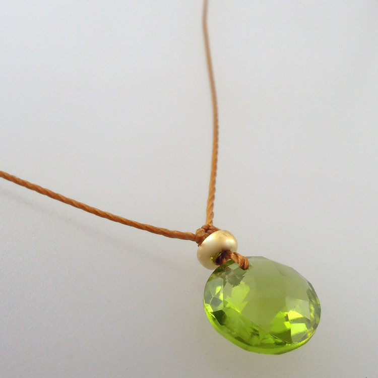 Arizona peridot with 14kt gold fill accent