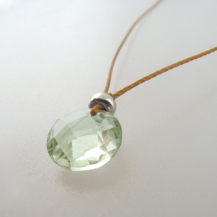 Prasiolite with sterling accents