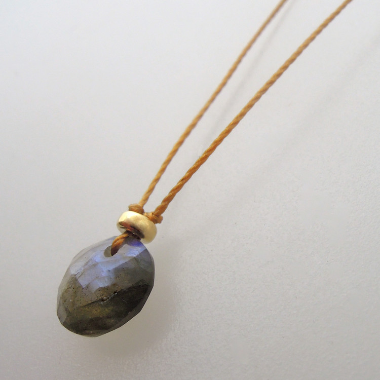 labradorite with 14kt gold fill accents