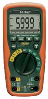 EXTECH EX520 11 Function Heavy Duty True RMS Industrial MultiMeter