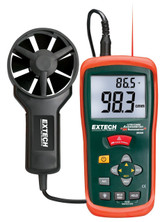 EXTECH AN200 CFM/CMM Mini Thermo-Anemometer with built-in InfaRed Thermometer