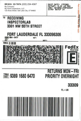 FHA Water FedEx Overnight- FLORIDA ONLY