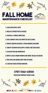 Fall Home Maintenance Checklist - Social Media Post