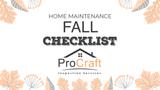 Fall Home Maintenance Checklist - Custom Video