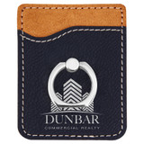 Custom Leatherette Phone Wallet With Silver Ring