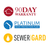 90 Day Warranty, SewerGard, and Roof Leak Protection Plan for 6 months PLUS 500 Custom Fliers!