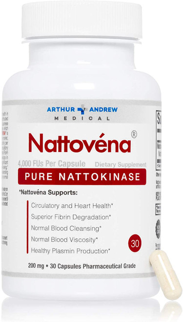 "Arthur Andrew Medical --- ""Nattovena"" --- 200mg - Fibrinolytic & Vascular Support -  180 Caps"