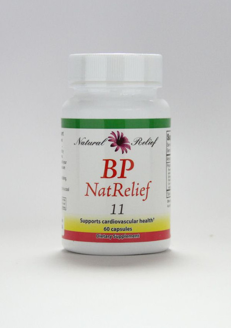 """Natural Relief """"BP NatRelief"""" --- Blood Pressure Reducing Herbal Formula - 60 Caps"""
