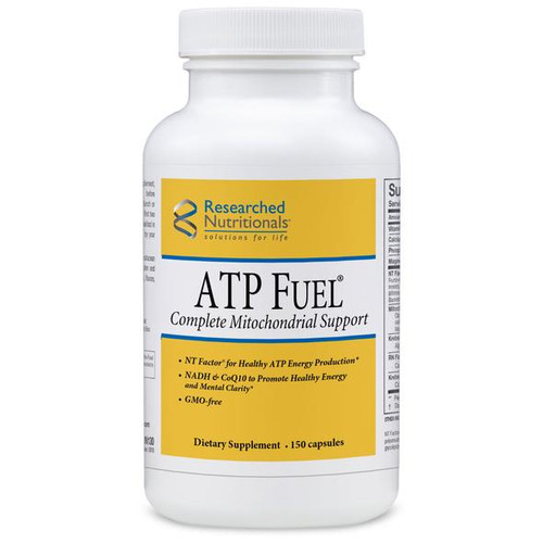 """Researched Nutritionals  ---  """"ATP FUEL"""" --- Complete Mitochondrial Nutrient Support Formula - 150 Caps"""