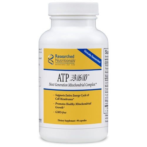 "Researched Nutritionals  ---  ""ATP 360"" --- All Inclusive Mitochondrial Support - 90 Caps"