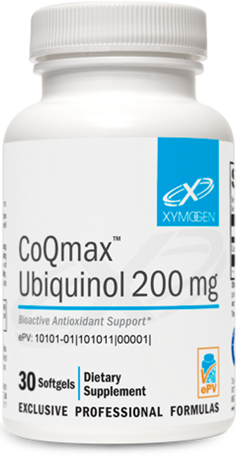 "Xymogen  ---  ""CoQmax™ Ubiquinol 200 mg"" --- CoQ10 200 mg - 30 Softgels"