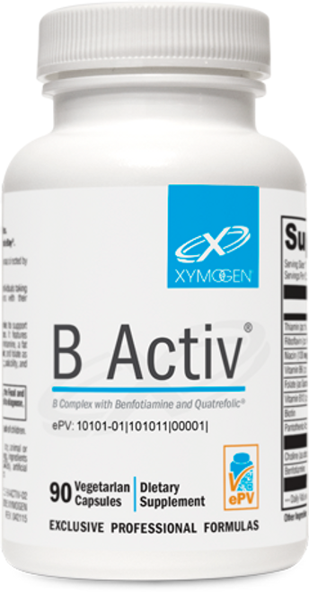 """Xymogen  ---""""B Activ®"""" ---  Complete Highly BioAvailable B-Complex - 90 Capsules"""
