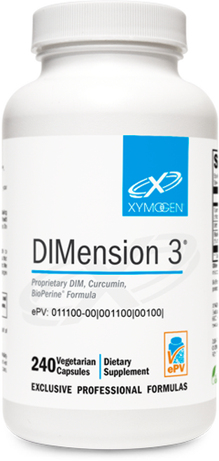 "Xymogen ---   ""DIMension 3®"" --- Healthy Estrogen Metabolism for Men & Women - 120 Or 240 Capsules"