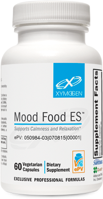 "Xymogen   ---  ""Mood Food ES™"" ---  Calm & Relaxed Formula - 60 Veggie Caps"