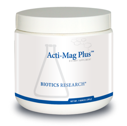 "Biotics  --- ""Acti-Mag Plus"" --- Powdered Magnesium & Select B-Vitamins Formula - 40 Servings"