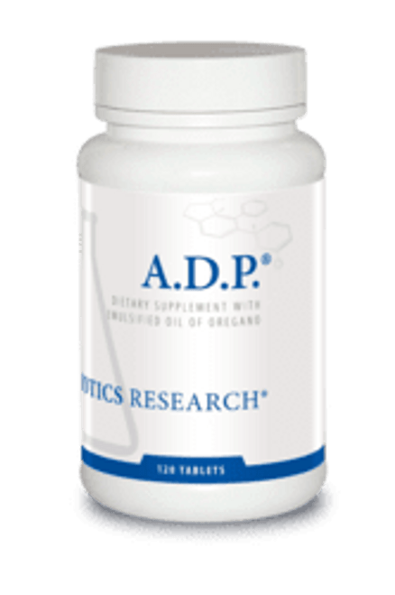 "Biotics  --- ""A.D.P."" --- Sustained Release Micro-Emulsified Oregano Oil - 60 Tabs"
