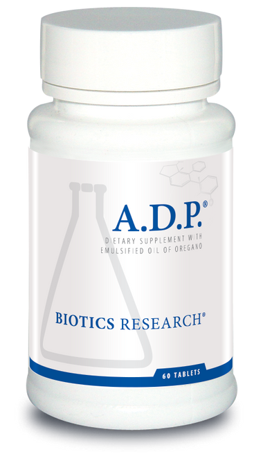 "Biotics  --- ""A.D.P"" --- Sustained Release Micro-Emulsified Oregano Oil - 120 Tabs"