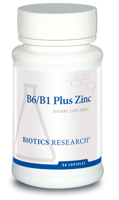 "BIOTICS Highly Bio-available  --- ""B6-B1 Plus Zinc"" - 90 Caps"