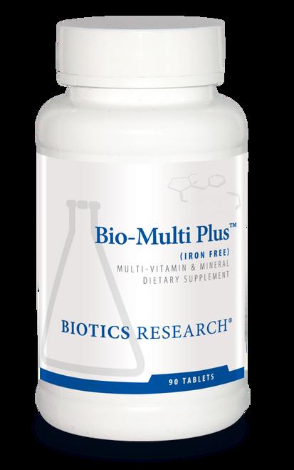 """Biotics --- """"Bio-Multi Plus"""" --- Full Spectrum Multi-Vitamin & Multi-Mineral Without Iron - 90 Tabs"""